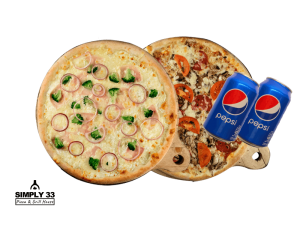 Simply Offers - 2 pizzas + 2 pepsis