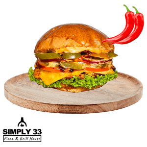 Simply 33 - Spicy Chicken Burger