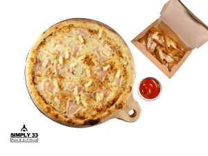 Combo Menu (Hawai Pizza, American Wedges With Parmesan, Ketchup)