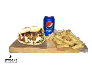 Set Panuzzo carne Vegetarian, French Fries, Pepsi 0,33l