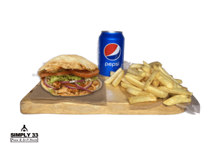 Set Panuozzo Napoletano Pollo, French fries & Pepsi 0,33l
