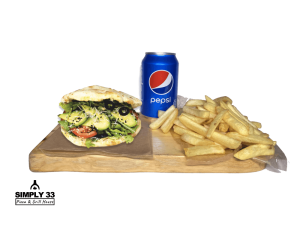 Set Panuzzo Verdura,French Fries, Pepsi 0,33l